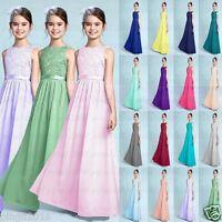 Charming chiffon Princess Junior Girl Dresses Bridesmaid Dress Size 4+++14 year