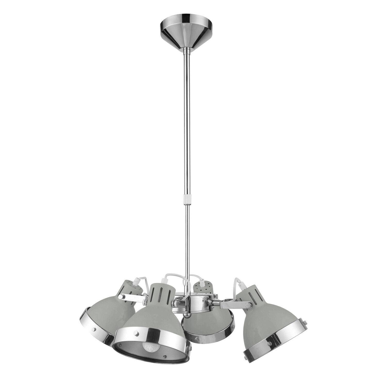 4 gris chrome abat-jour Lumières maison salle salle salle à Femmeger cuisine éclairage plafond Lumière Pendentif 7da7e9