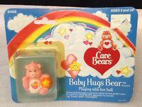 Vintage 1984 Care Bears Baby Hugs Bear 2 Pvc Miniature Figure Kenner Original