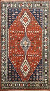 Tribal Geometric Yalameh Oriental Area Rug Hand-made Wool Traditional Carpet 5x8