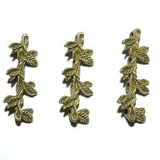 ML943L2 Antiqued Bronze 30mm Leaf Branch 7-Strand Spacer Bar Metal Beads 50/pk