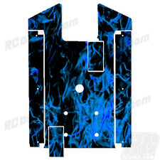 Axial Yeti XL Chassis Plate Protector - Thick Graphics - Flames Blue
