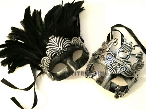 Par Romano Gladiador Mascarada Baile Máscara par Steampunk Escuela Baile de graduación fiesta