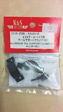 K&S Aluminum Tail Support Clamp (3D) AllJR Heli KSJ2110