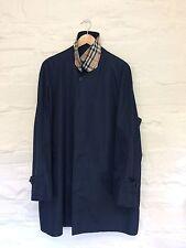 Burberry London Nova Check Collar Trench Raincoat Jacket 52 XL