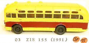 03-ziss-155-Resina-Autobus-Rojo-Crema-v-amp-v-H0-1-87-bf15-a
