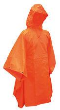 NEU Regenponcho Orange Regen Cape Poncho Reflektor Notzelt Signal Umhang Poncho