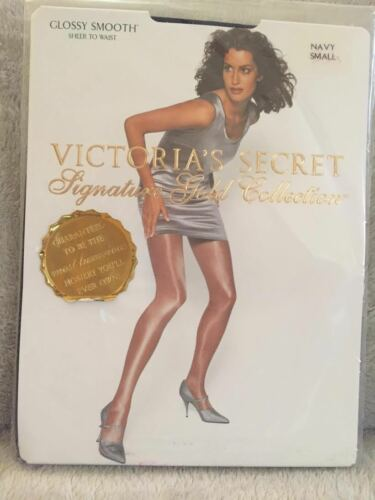 Victorias-Secret-Signiture-Gold-Collection-Glossy-Smooth-Sheer-To-Waist-NAVY//BLK