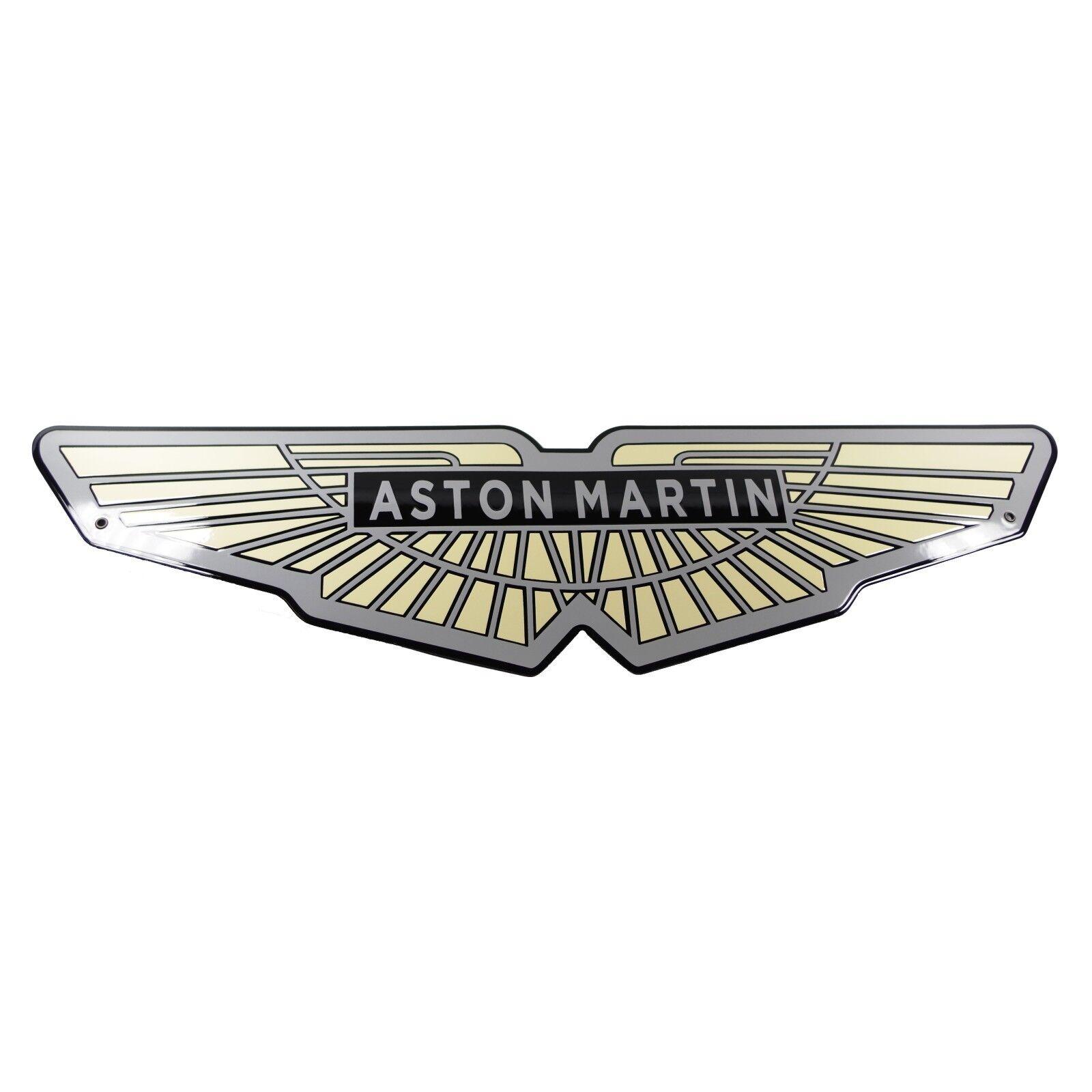 Enamel Plaque Aston Martin 21x80cm Warranty 10 Years Emblem Sign Logo Plate Colorcard De