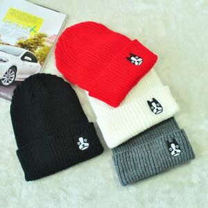 2c81473f75a Image is loading Dog-Print-Winter-Hats-For-Men-Women-Embroidered-