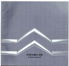 Citroen C6 2005-06 UK Market Preview Sales Brochure Lignage Exclusive V6 HDi