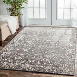 Silver Grey Traditional Persian Rug