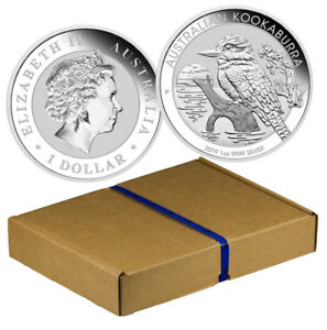 Monster Box of 100 - 2019-P 1 oz. Silver Kookaburra $1 GEM BU SKU55414