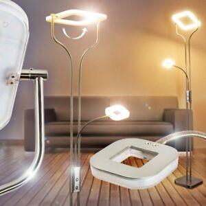 Dettagli su Lampada da Terra Piantana Stelo Luce Salotto Soggiorno LED  Dimmer Design Lettura