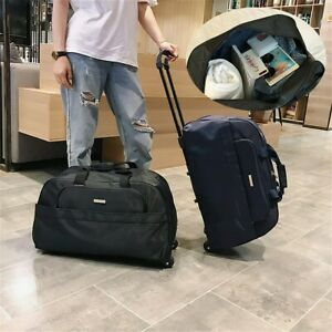 New-Large-Trolley-Wheeled-Backpack-Travel-Luggage-Suitcase-Laptop-Rucksack-Bag
