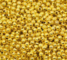 Free Shipping 500Pcs Gold Plated Spacer Beads For Jewelry 3mm