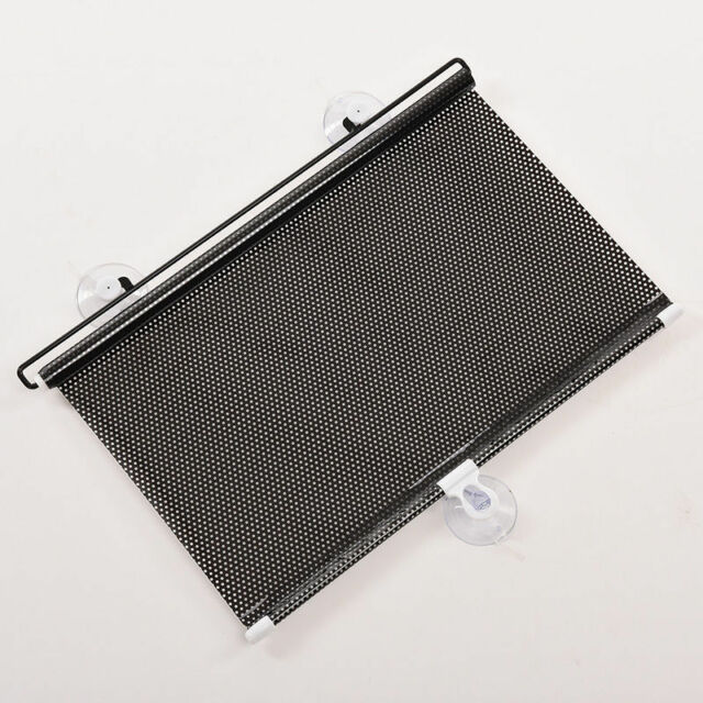 Auto Car Black Window Roll Blind Sunshade Windshield Sun Shield Visor 45 x125cm