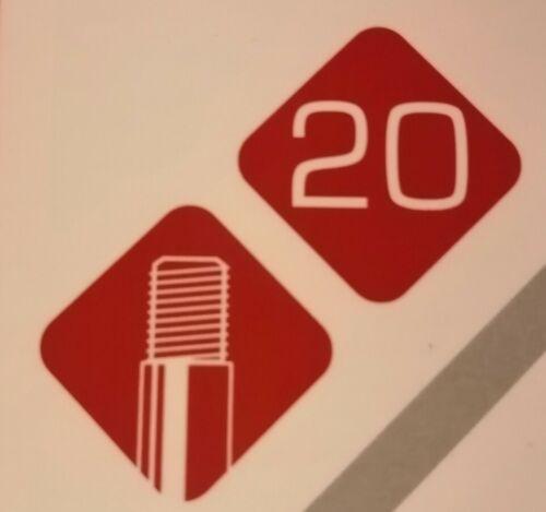 "20/"" x 1.75-2.25//Schrader Valve 48 mm long//BMX//Enfants Etc tube intérieur"