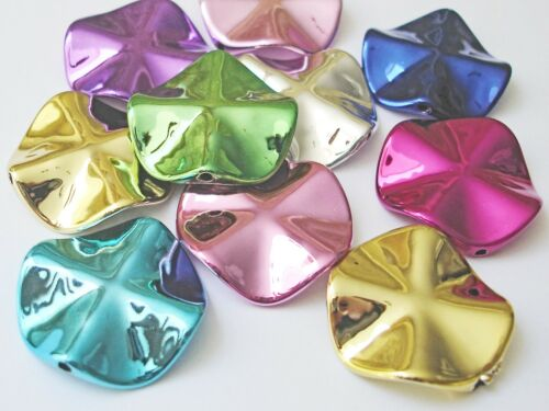5 Stück #K19567 Blume Acryl Perlen Mix