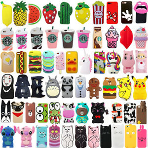 For iPhone SE 5 5s 5c Hot Pop 3D Cute Cartoon Soft Silicon Phone Case Cover Back