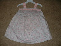Piper & Posie Floral Dress Set Gray Pink Baby Girls Size 9m 9 Months