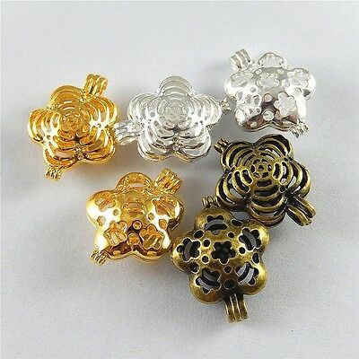 8 pcs Mixed Antiqued Gold Color Locket Heart Shaped Hollowed Charm Pendant