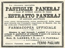 Y2158 Pastiglie Paneraj - Pubblicità del 1903 - Old advertising