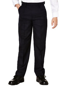 Boys-School-Trousers-Black-Long-and-Extra-Long-Ex-M-amp-S-2-16-Years