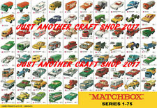 Matchbox Series 1-75 all models A3 size 1969 Poster Shop Sign Advert Leaflet