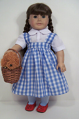 "Dorothy Dress with Toto /& Shoes made for 18/"" American Girl Doll Clothes"