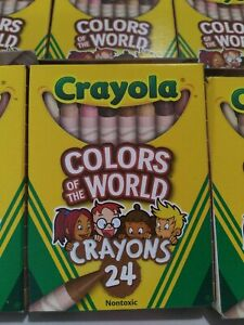 10-Boxes-Crayola-Crayons-MULTICULTURAL-24-Pack-Colors-of-The-World-NEW