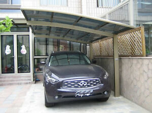 Car Parking Protection Aluminum Carport With Pc Sheet Roof Canopy