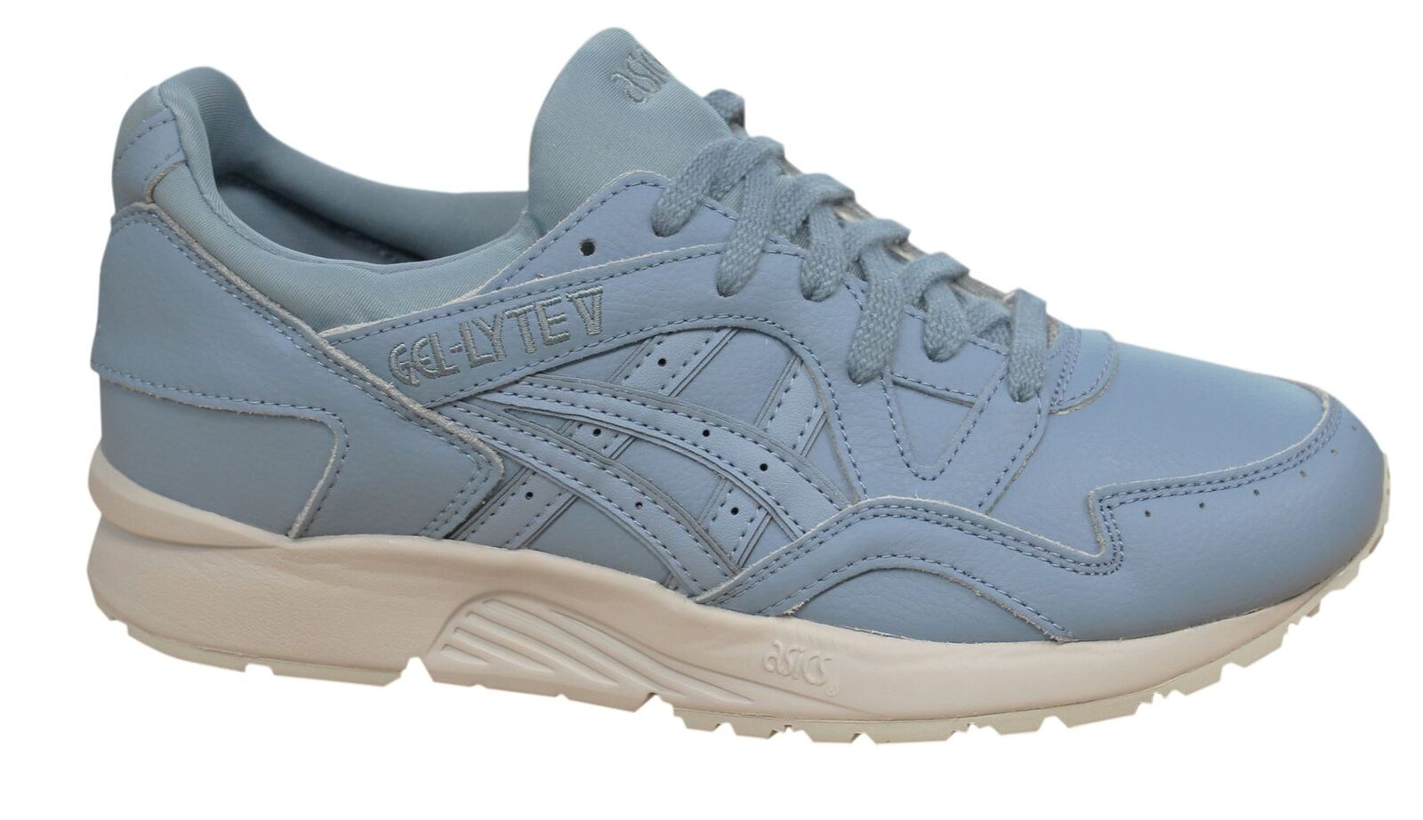 Asics Gel-Lyte V Lace Up Mens Blue Leather Synthetic Mens Up Trainers H6R3L 5656 D33 fc5af3