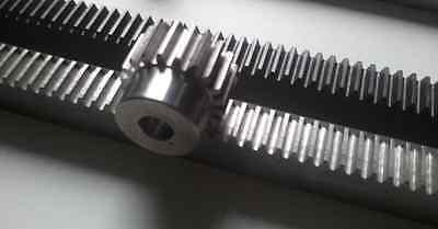 """2x24/""""pcs CNC Stepper Motor Mech Rack /& Gear 48/"""" Rack /& 1//2/"""" 20T Pinion Gear"""