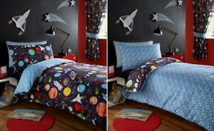Image Is Loading Planets Outer E Ship Rocket Kid Boy Reversible