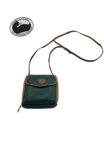 Pocket DooneyBourke Wallet BagGreen Tan Small Crossbody tshrBdQCx