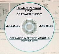 Hp Hewlett Packard 6205c Dc Power Supply: Operating & Service-schematics Manual