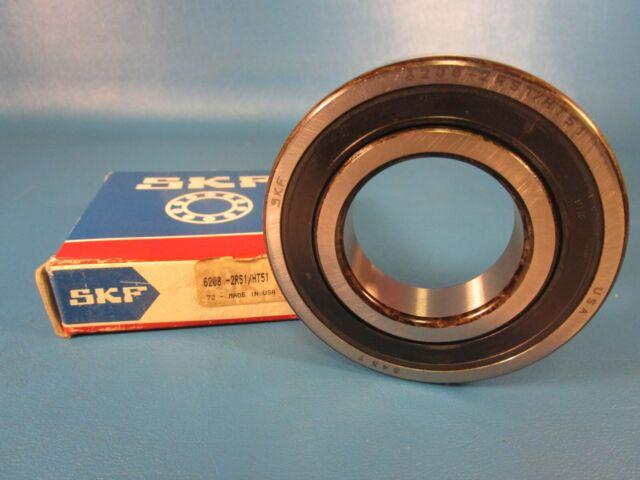 ABEC 1 Precision Single Row Deep Groove Design SKF 6208-2RS1 Radial Bearing