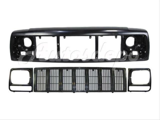 For 97-01 JEEP CHEROKEE SE//SPORT//LIMITED//COUNTRY MODEL GRILLE MATERIAL BLACK