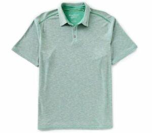 41a55b280 Tommy Bahama Men's Flip Tide Spectator Polo Golf Shirt Green Finch ...