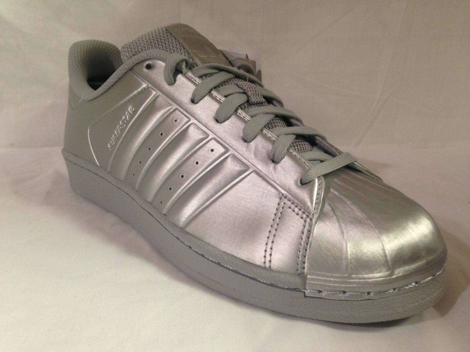 Herren Adidas Superstar Metallic Silver/Silver BB1461 Gr  es: UK 8_8.5_9_9.5