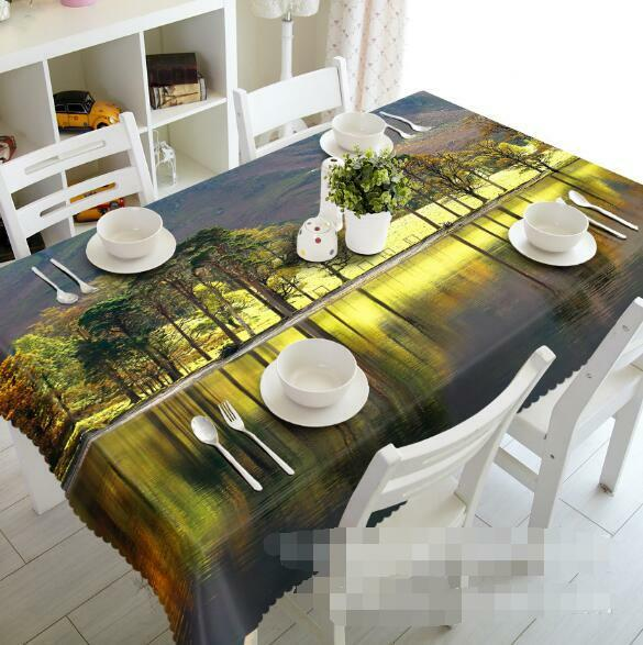 3D 3D 3D Forest 98 Tablecloth Table Cover Cloth Birthday Party Event AJ WALLPAPER UK 4328a1