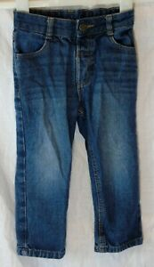 Boys-George-Blue-Whiskered-Denim-Adjustable-Waist-Classic-Jeans-Age-2-3-Years