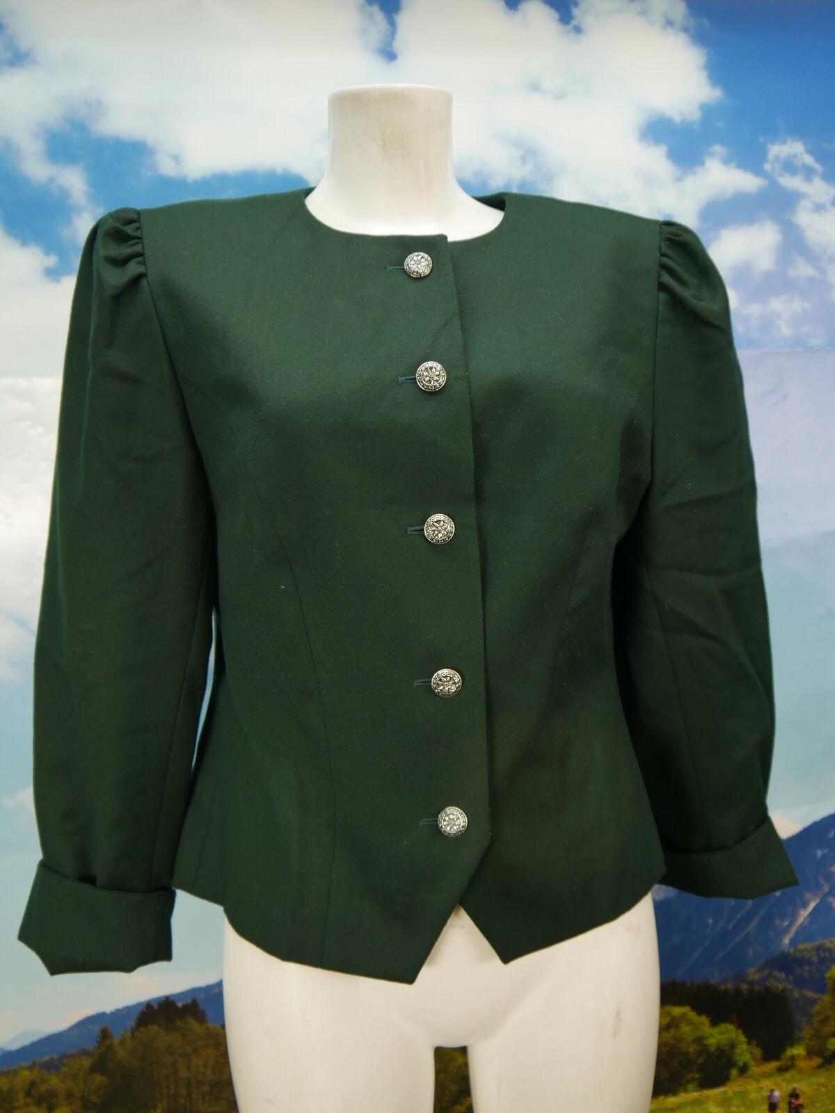 Petressa Janker neuwertig und kurz grün tailliert Trachtenjacke Jacke Gr.40