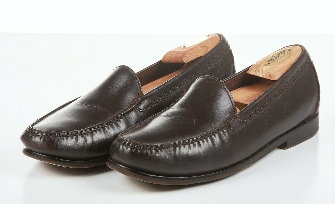 Mens COLE HAAN GRAND OS shoes 9.5 M, Dark Brown Leather 'PINCH' Loafers