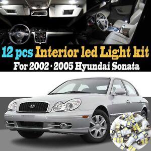 12pc super white car interior led light kit package for 2002 2005 hyundai sonata ebay ebay
