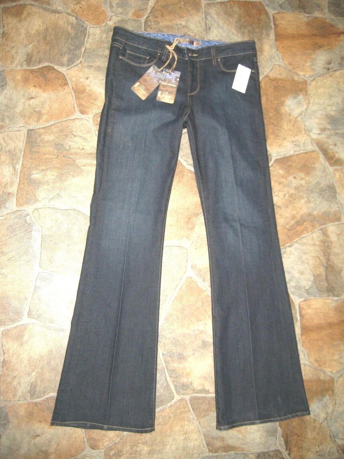 NEW  NORDSTROM   PAIGE Skyline Premium Denim Stretch Boot Cut bluee Jeans 32