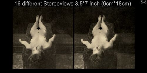 16 artful Stereoviews french Nude 1910 France Paris Lot 8