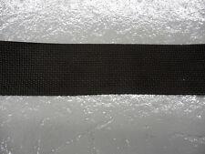 "Black 2-inch wide Polypropylene Webbing, by the yard, Light Duty, 0.048"" thick"