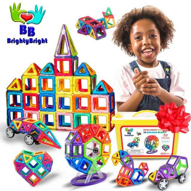 100 pcs Magnetic Toy Building Blocks Shapes Set 3D Kids Toys Great Gift